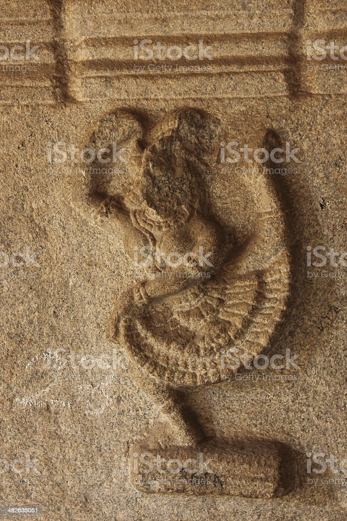 Ancient sculpture of a dancing lady royalty-free stock photo