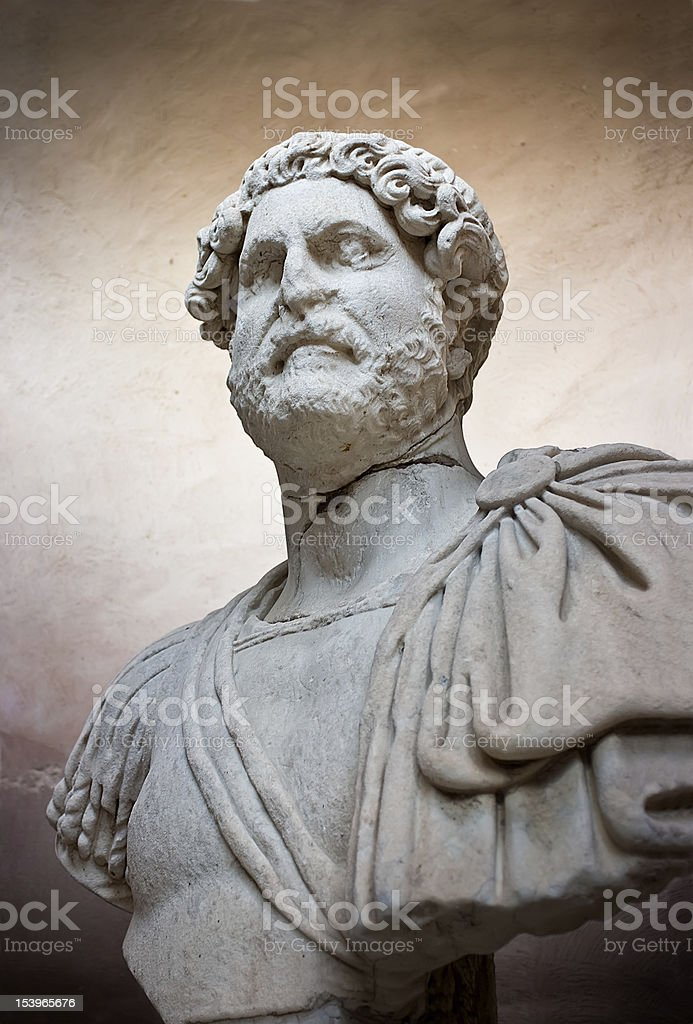Ancient sculpture of a Roman royalty-free stock photo