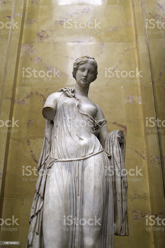 Ancient sculpture of Aphrodite stock photo