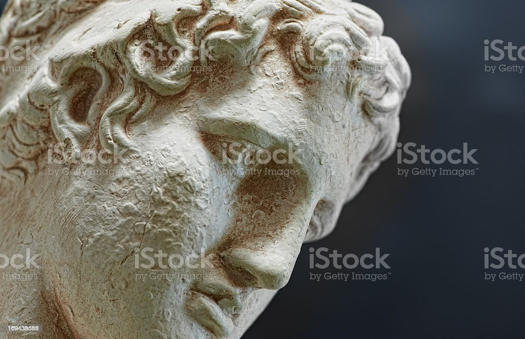 Ancient sculpture stock photo