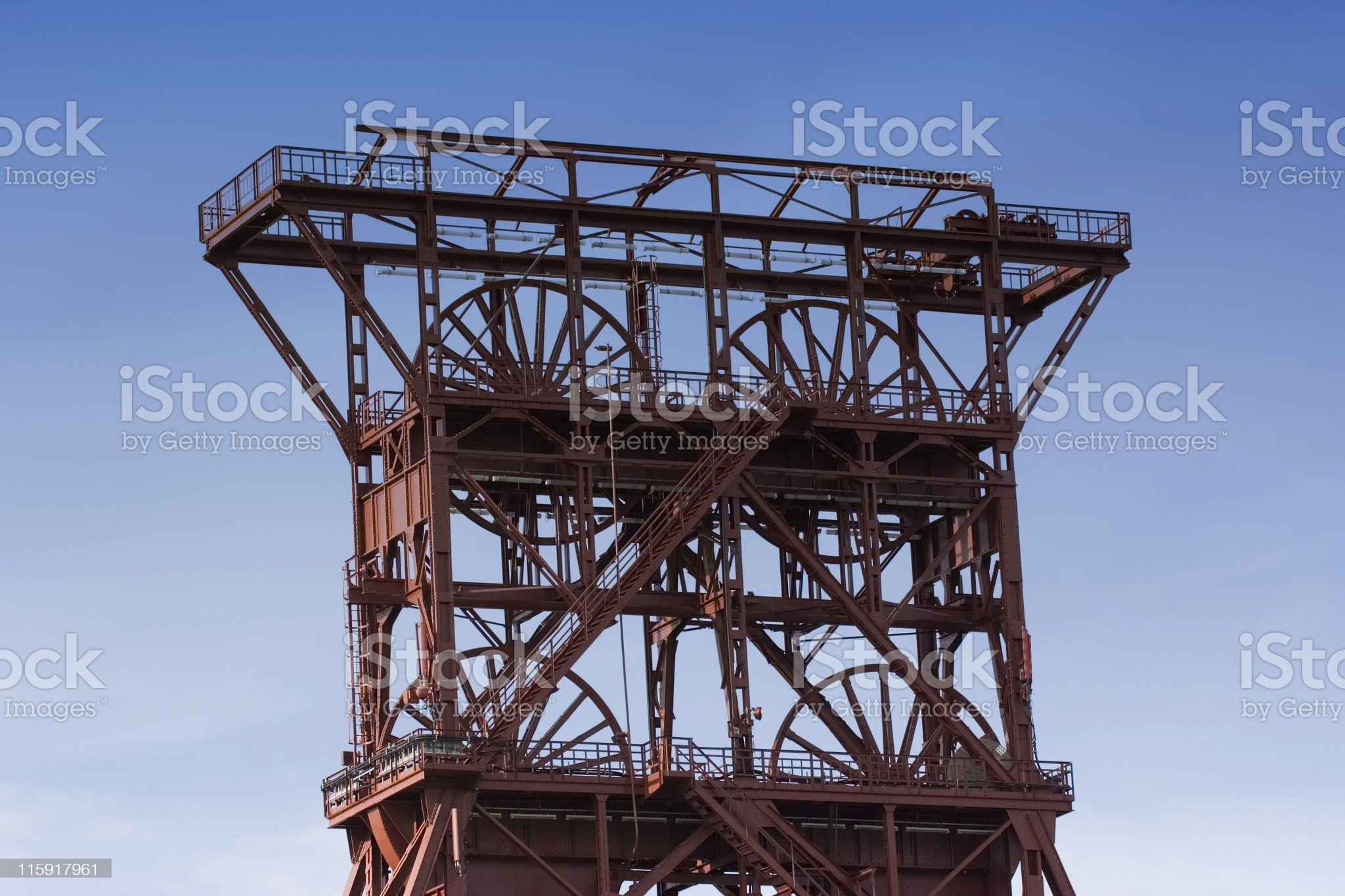 ancient shaft tower royalty-free stock photo