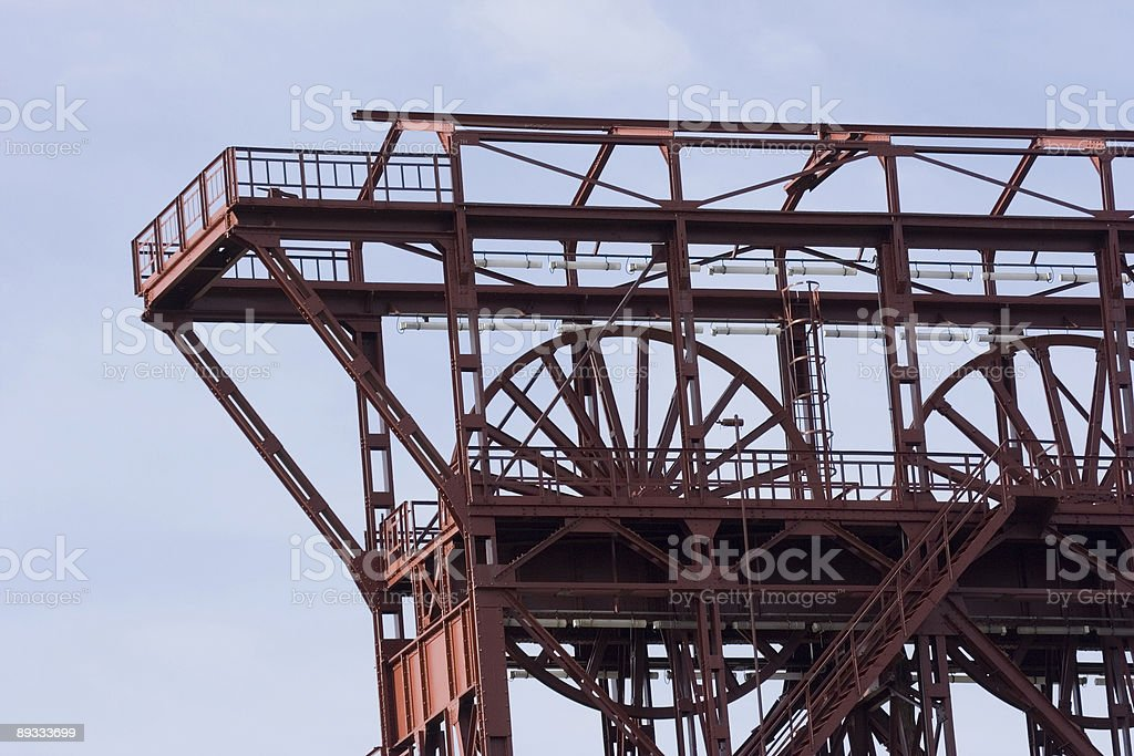 ancient shaft tower stock photo