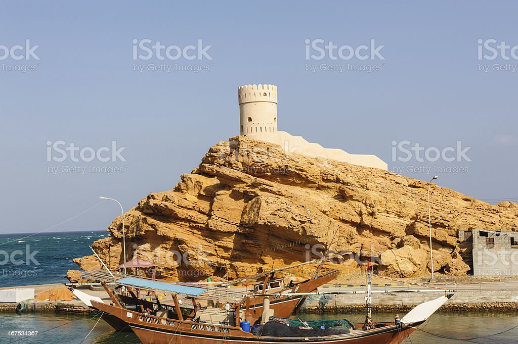 Ancient ship of Sur royalty-free stock photo