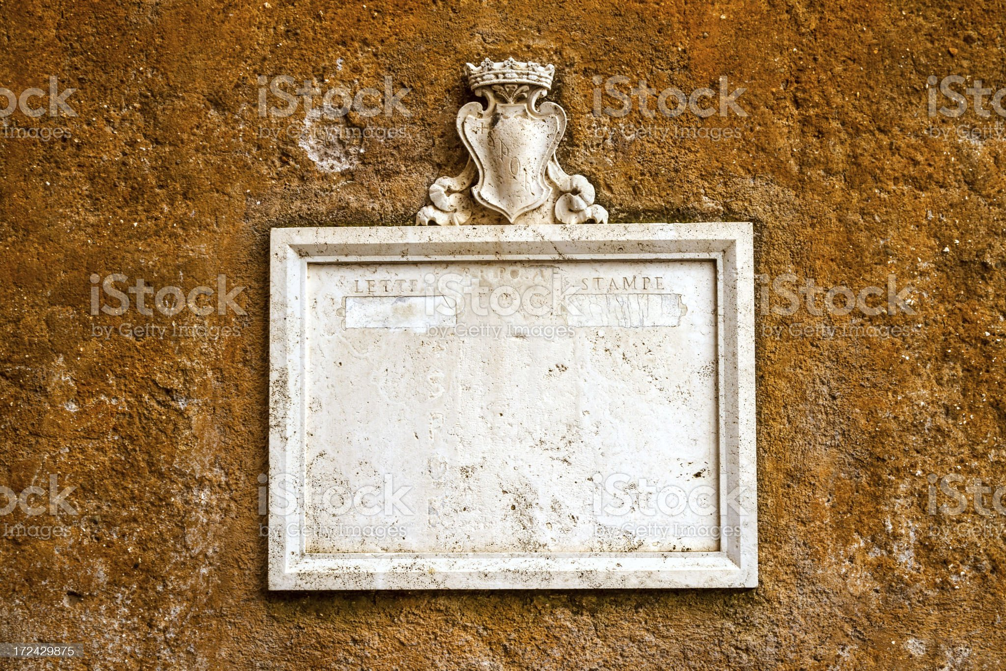ancient sign Vatican, Rome, italy royalty-free stock photo