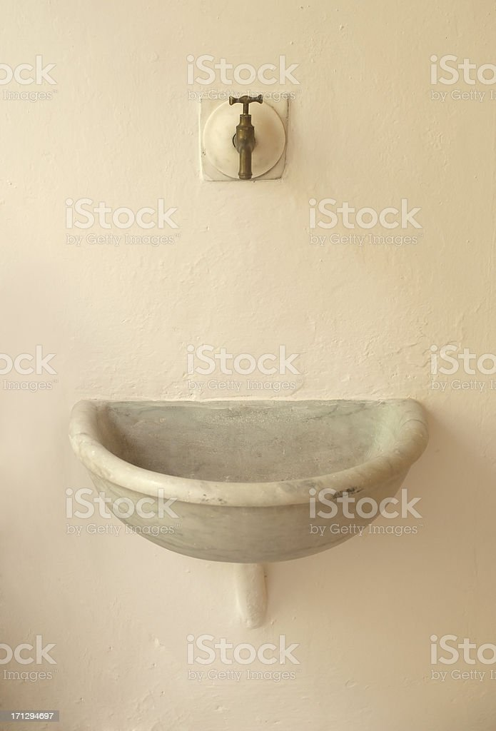 Ancient Sink stock photo