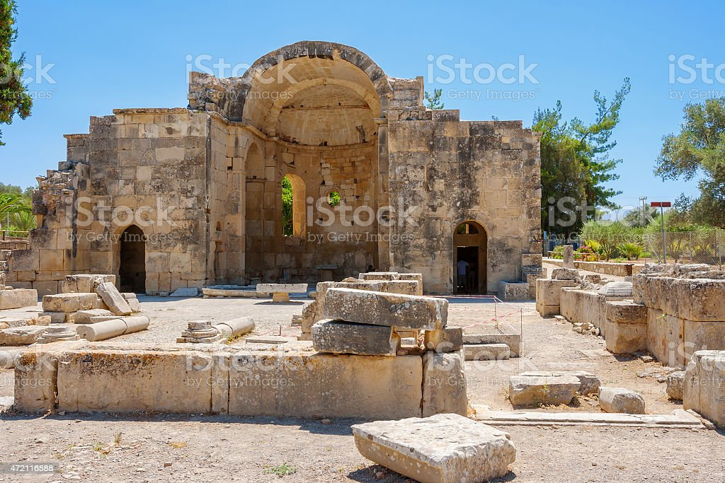 Ancient site of Gortyn. Crete, Greece stock photo