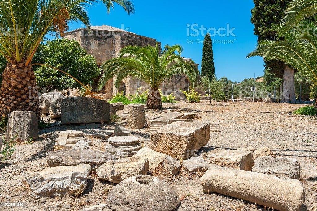 Ancient site of Gortyna. Crete, Greece stock photo