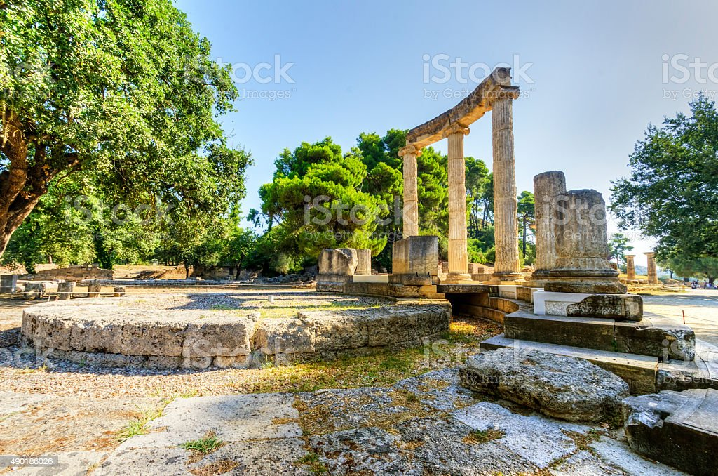 Ancient site of Olympia, Greece stock photo