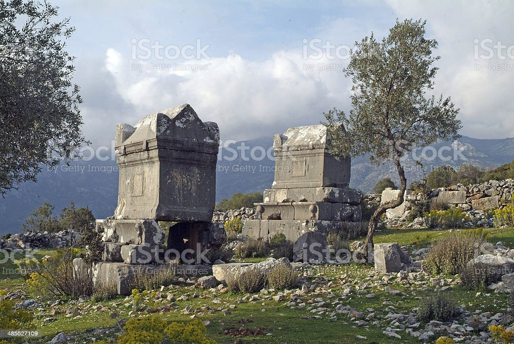 Ancient site of Sidyma stock photo