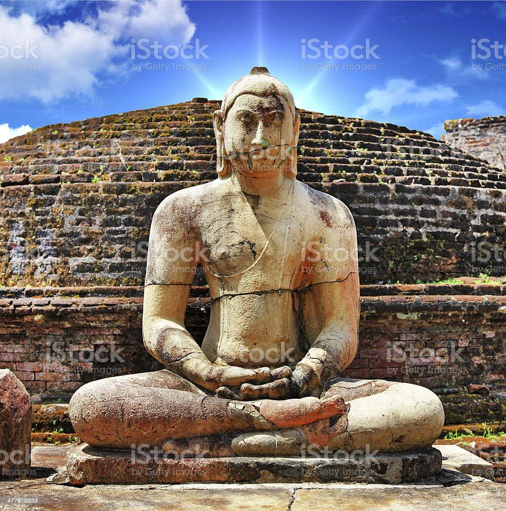 ancient sites of Sri lanka stock photo