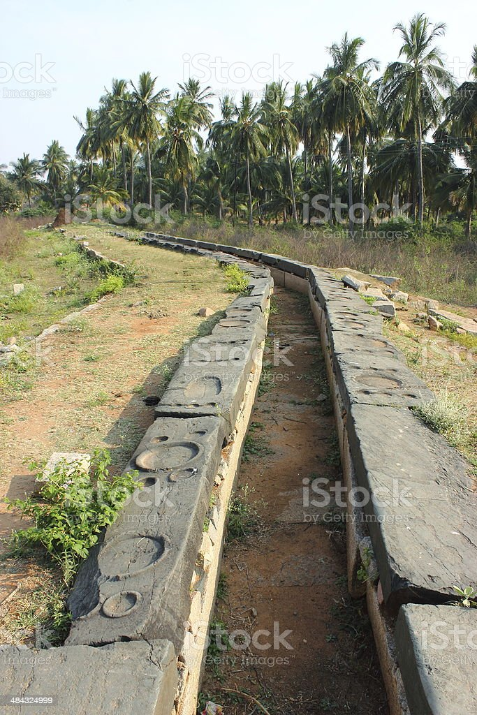 Ancient small canal to bring water royalty-free stock photo