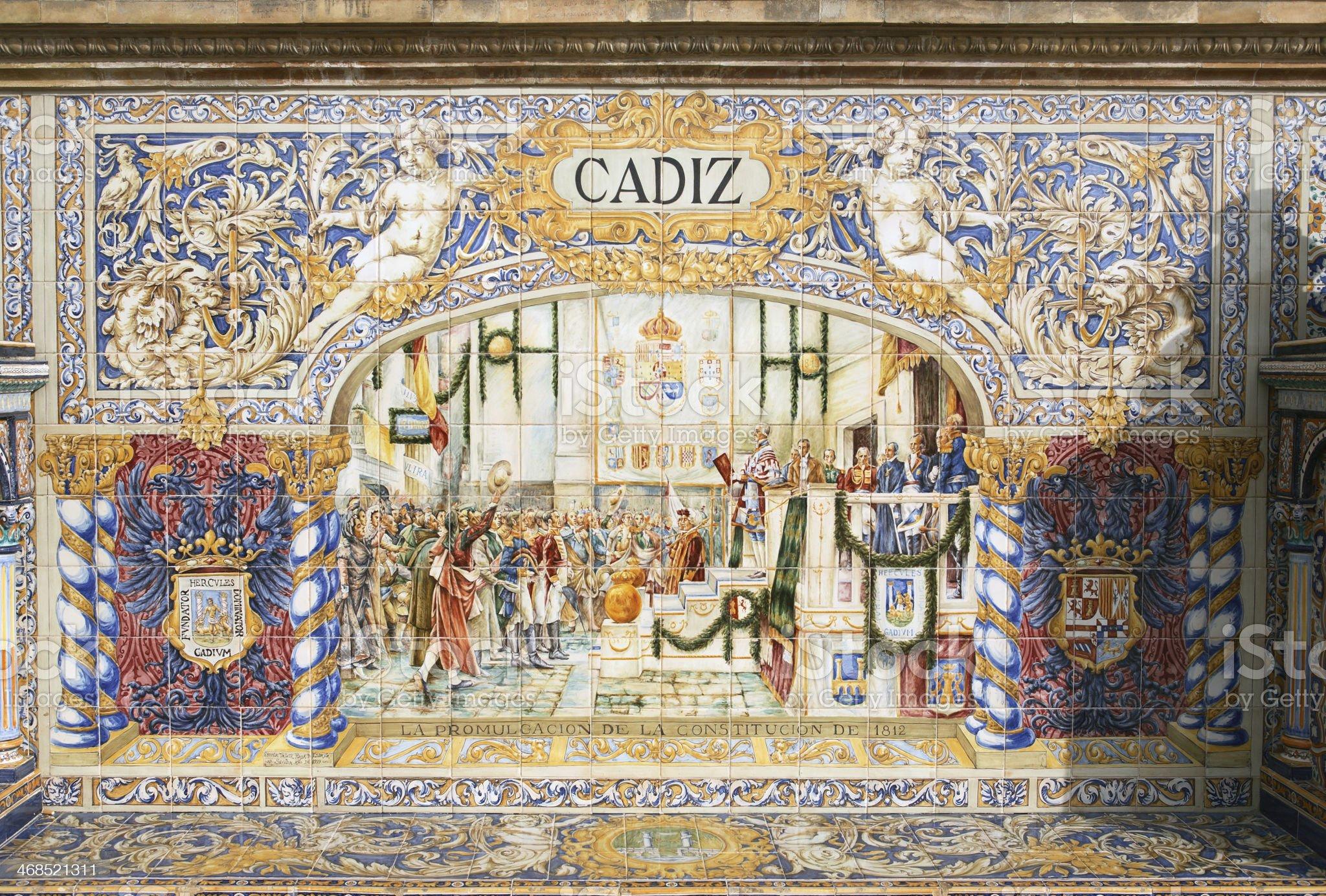 Ancient Spain Mosaic royalty-free stock photo