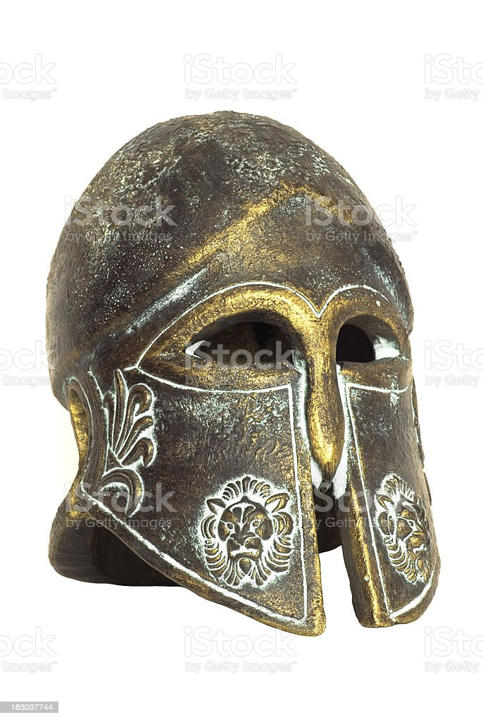 Ancient Spartan Helmet royalty-free stock photo