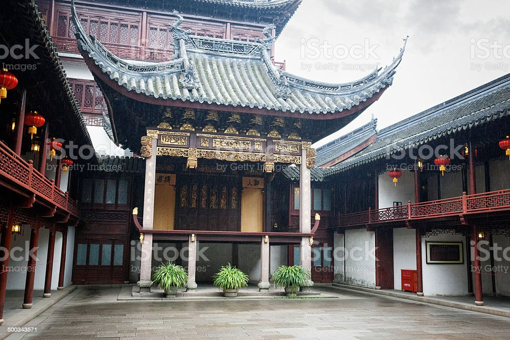 Ancient Stage at Yu Yuan Gardens in Shanghai, China royalty-free stock photo