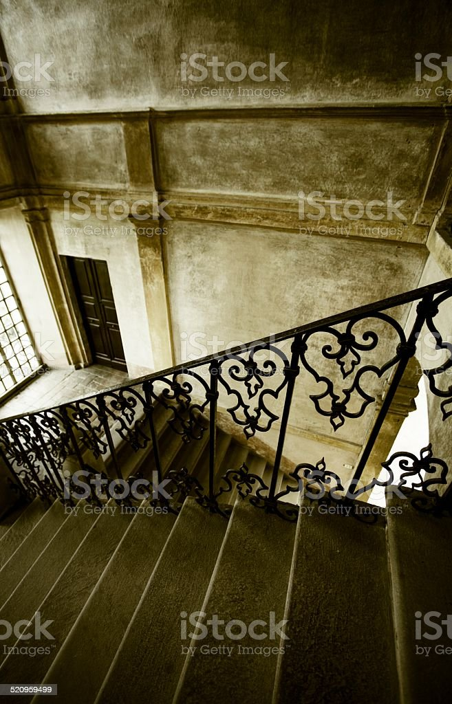 Ancient stairs stock photo