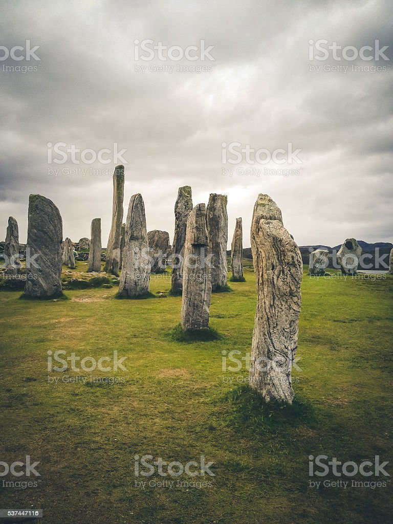 Ancient Standing Stones of Callanish, Isle of Lewis, Hebrides, Scotland stock photo