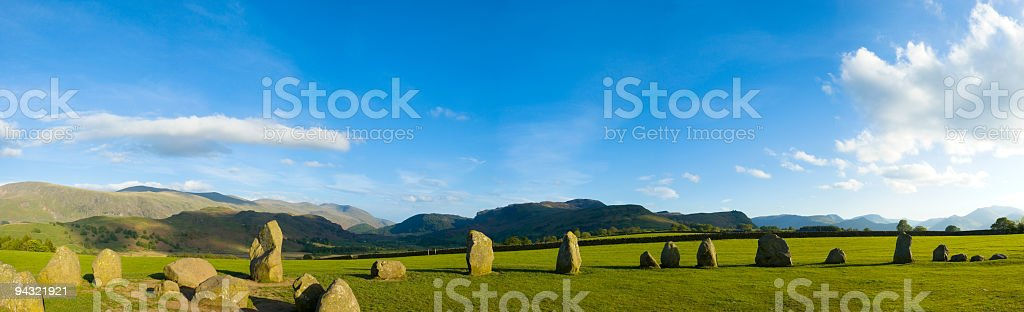 Ancient standing stones royalty-free stock photo