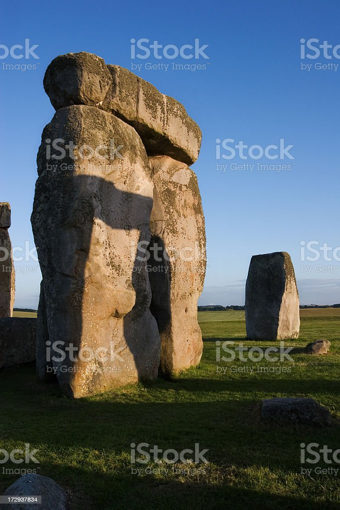 Ancient Standing Stones, Stonehenge royalty-free stock photo