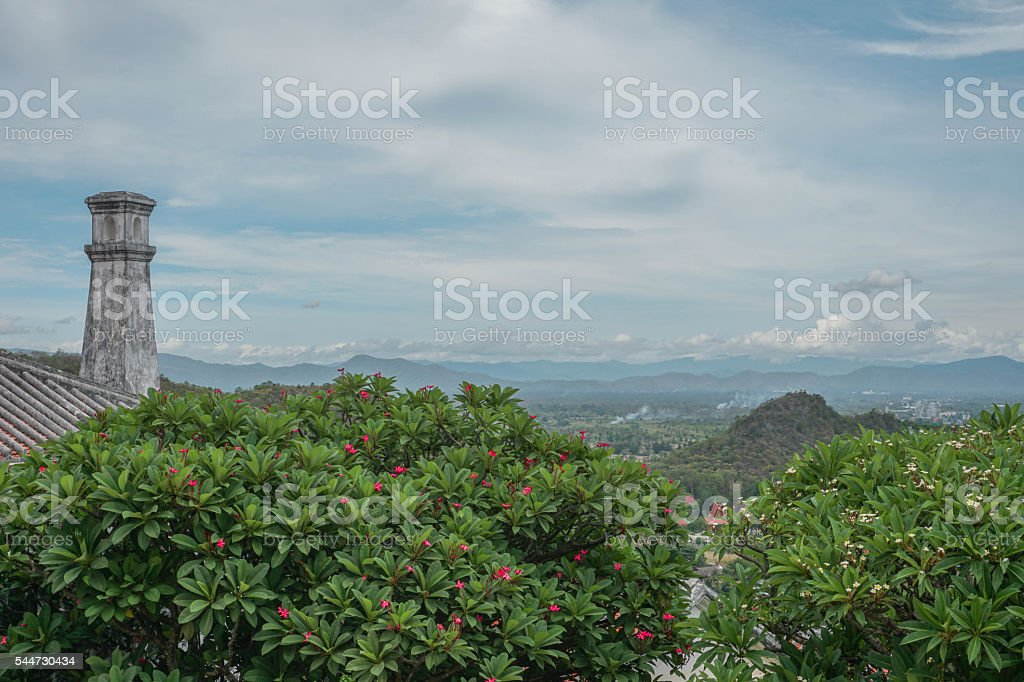 Ancient Star Observatory in Thailand stock photo
