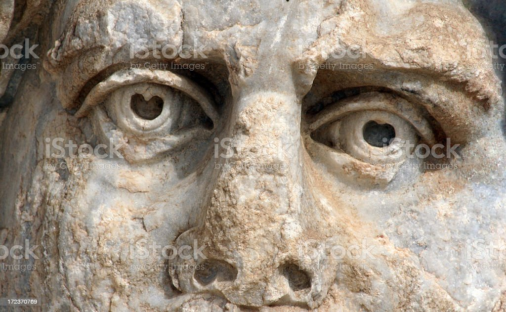 Ancient statue face close-up royalty-free stock photo