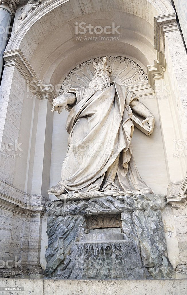 Ancient Statue in Rome, Italy royalty-free stock photo