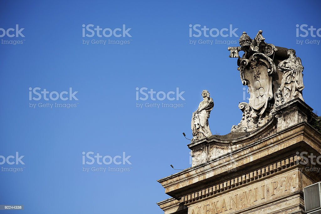 Ancient Statue in St. Peter's Square. royalty-free stock photo