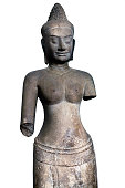 Ancient statue of the Khmer Empire period, Cambodia