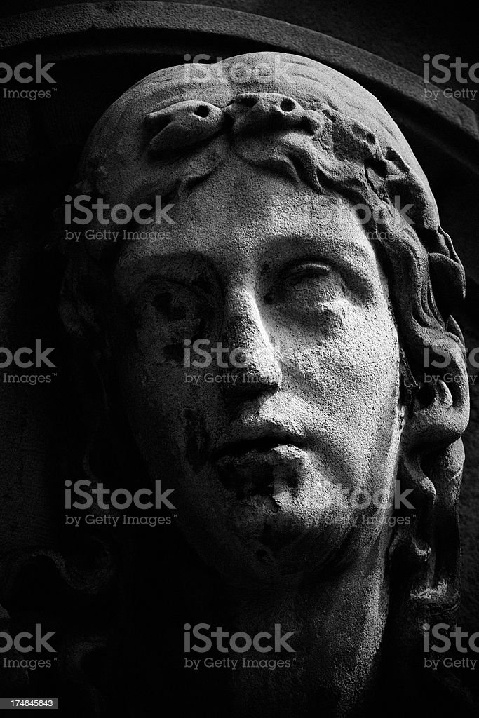 Ancient statue stock photo