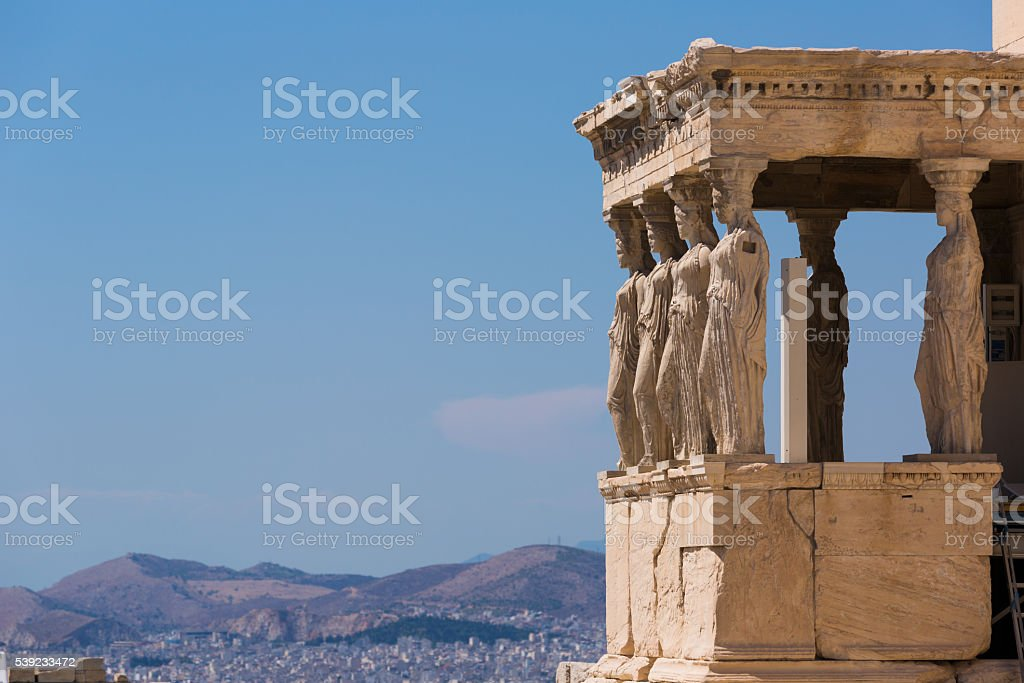 Ancient Statues in Greece. Women stock photo