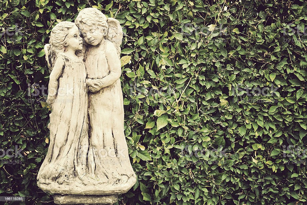 Ancient statues ,Vintage style royalty-free stock photo