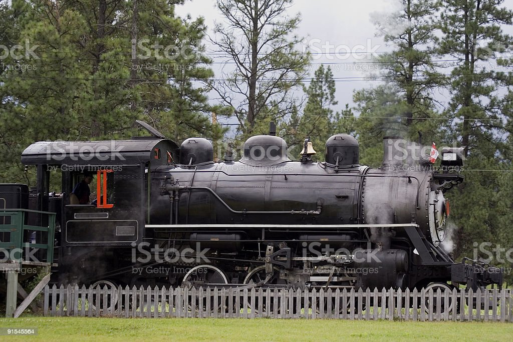 ancient steam locomotive royalty-free stock photo