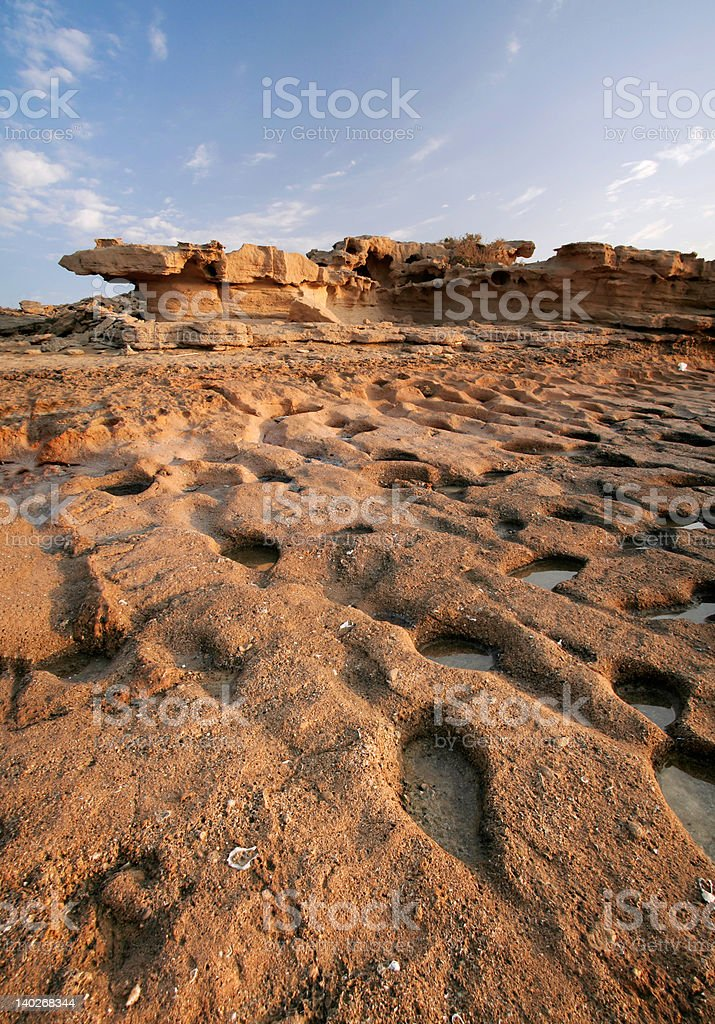 ancient steps on stone royalty-free stock photo