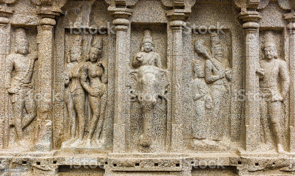 Ancient stone carvings, Mamallapuram, Tamil Nadu, India. royalty-free stock photo