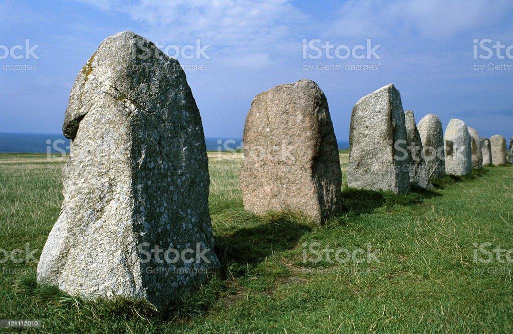 ancient stone circle stock photo