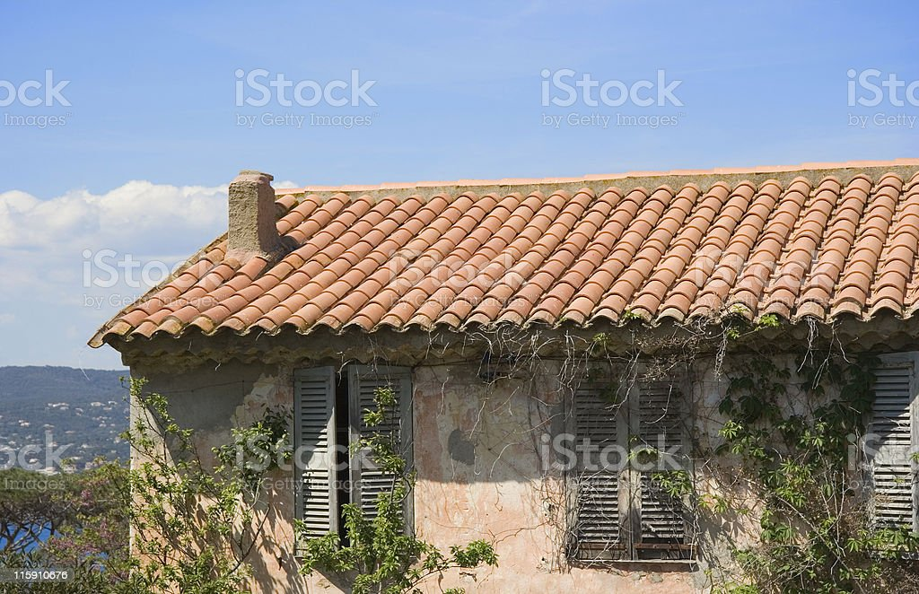 ancient stone cottage royalty-free stock photo