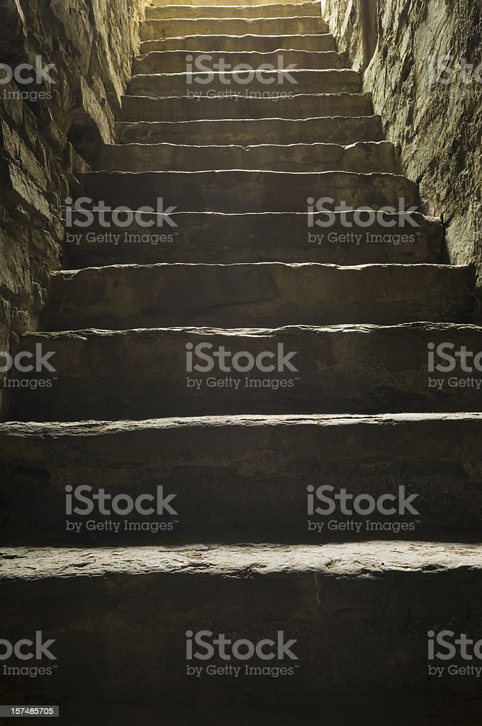 Ancient stone steps royalty-free stock photo