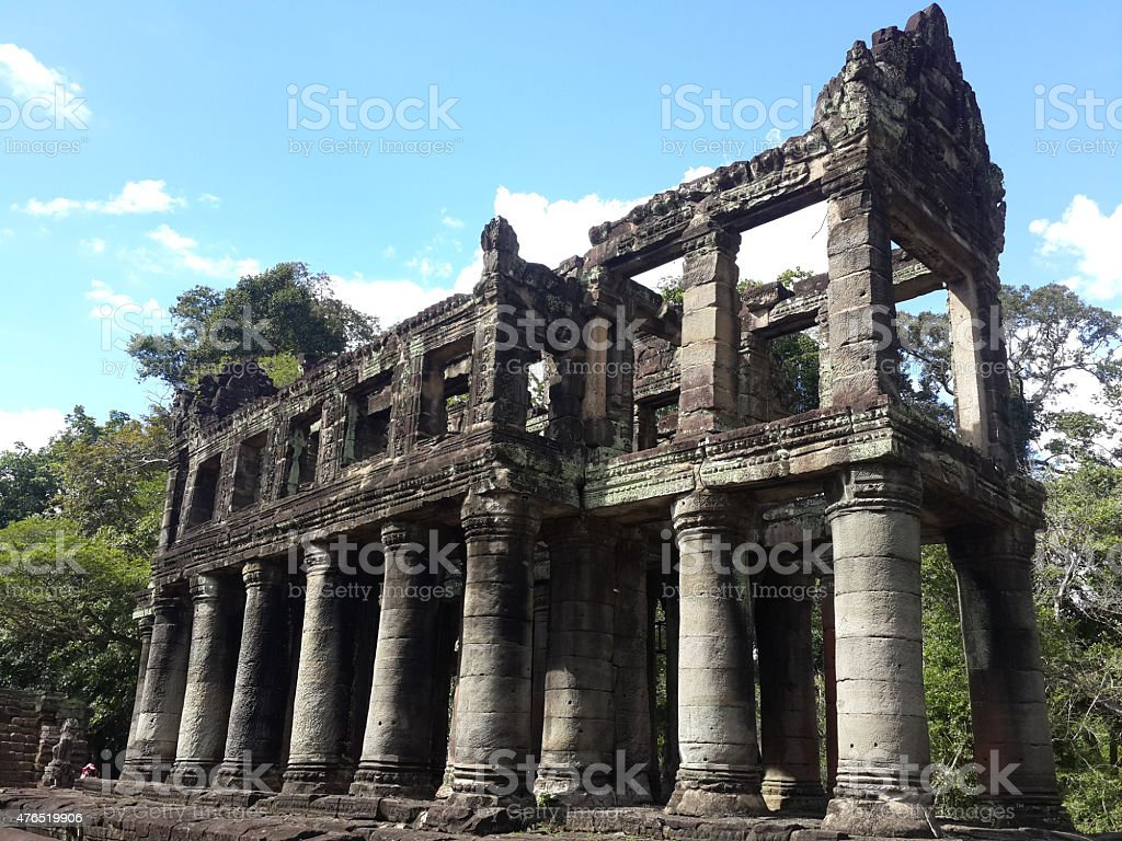 Ancient Stone Temple Building stock photo
