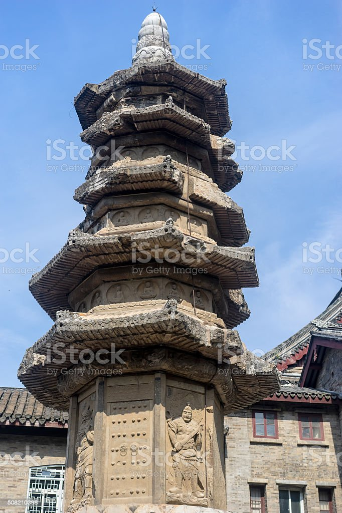 ancient stone tower stock photo