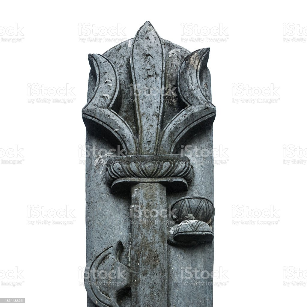 Ancient stone trident. royalty-free stock photo