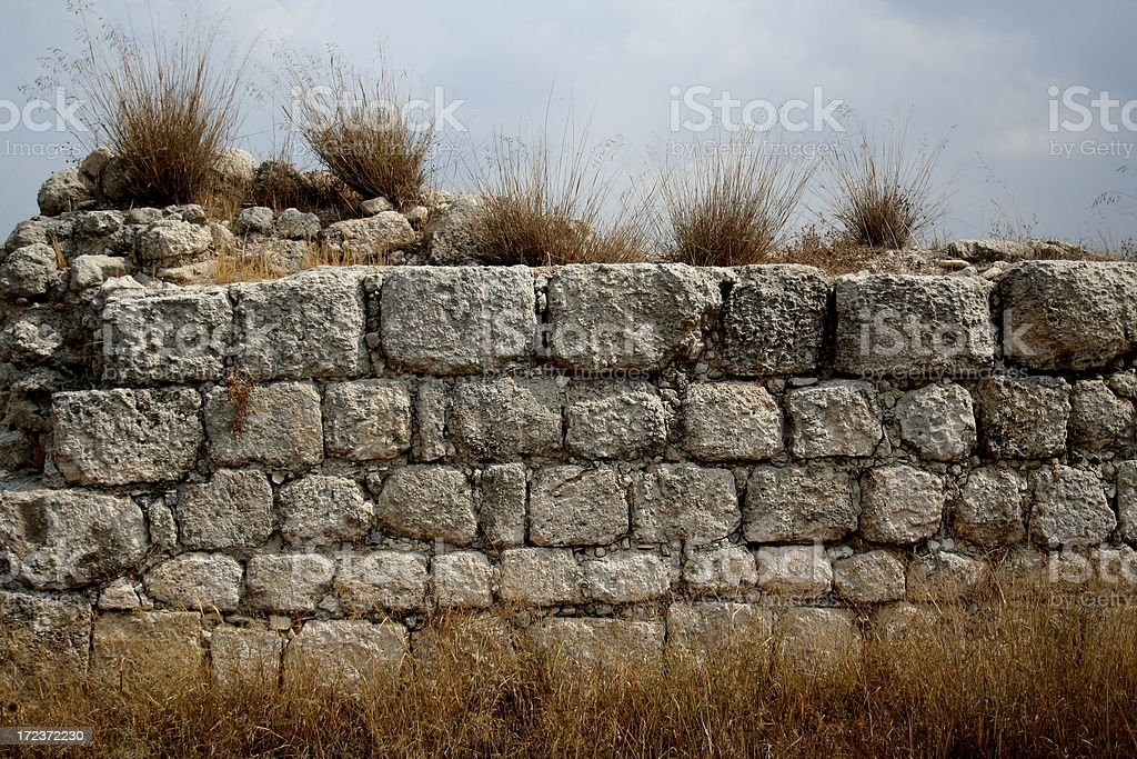 Ancient Stone Wall royalty-free stock photo