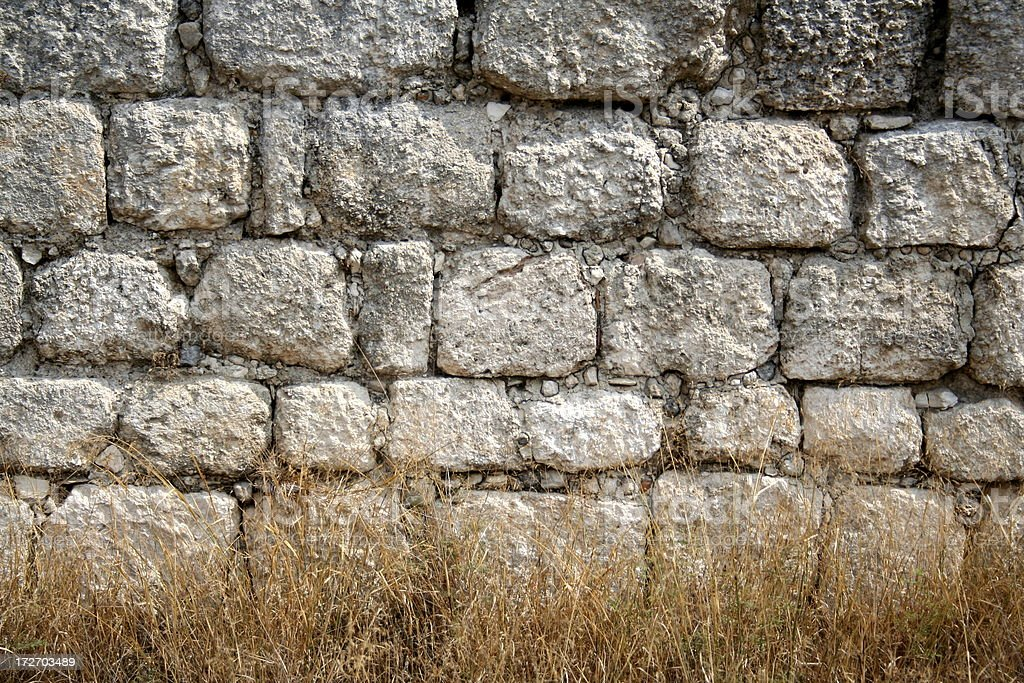 Ancient Stone Wall stock photo