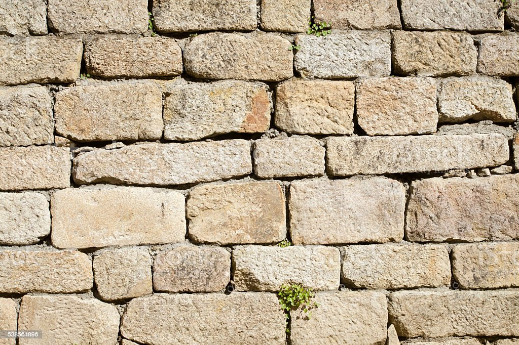 Ancient stone wall. stock photo