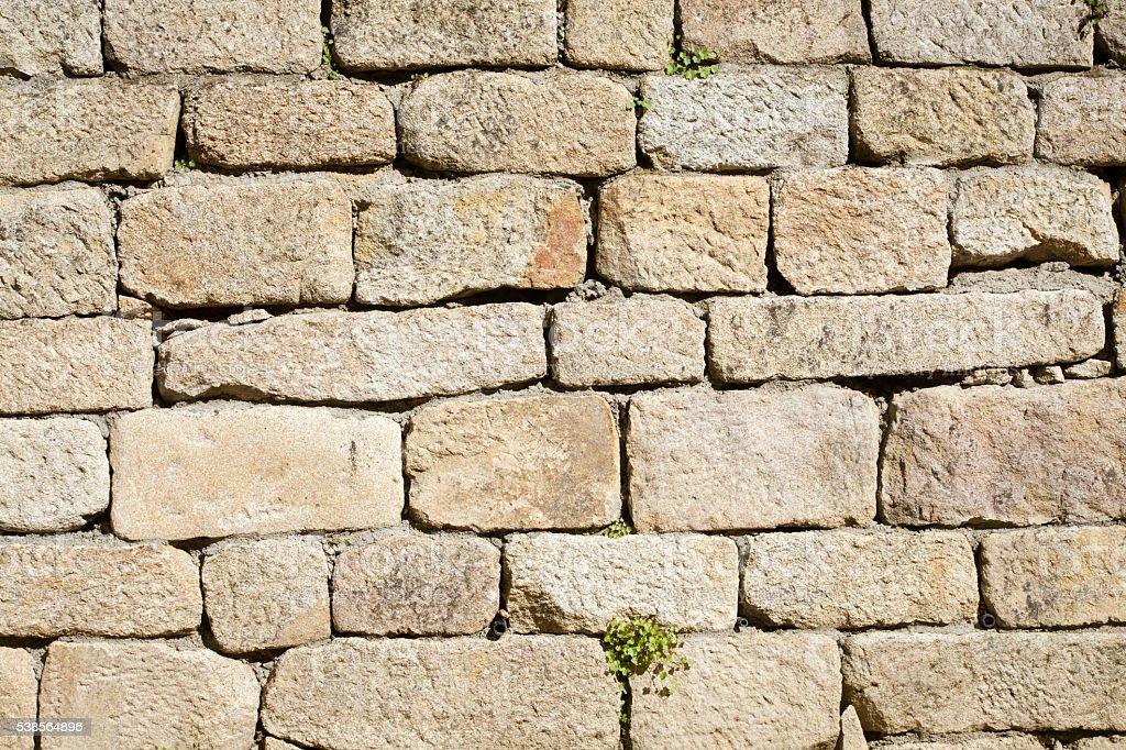 Ancient stone wall. stock photo