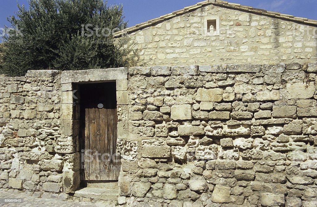 Ancient Stone Wall royalty-free stock photo