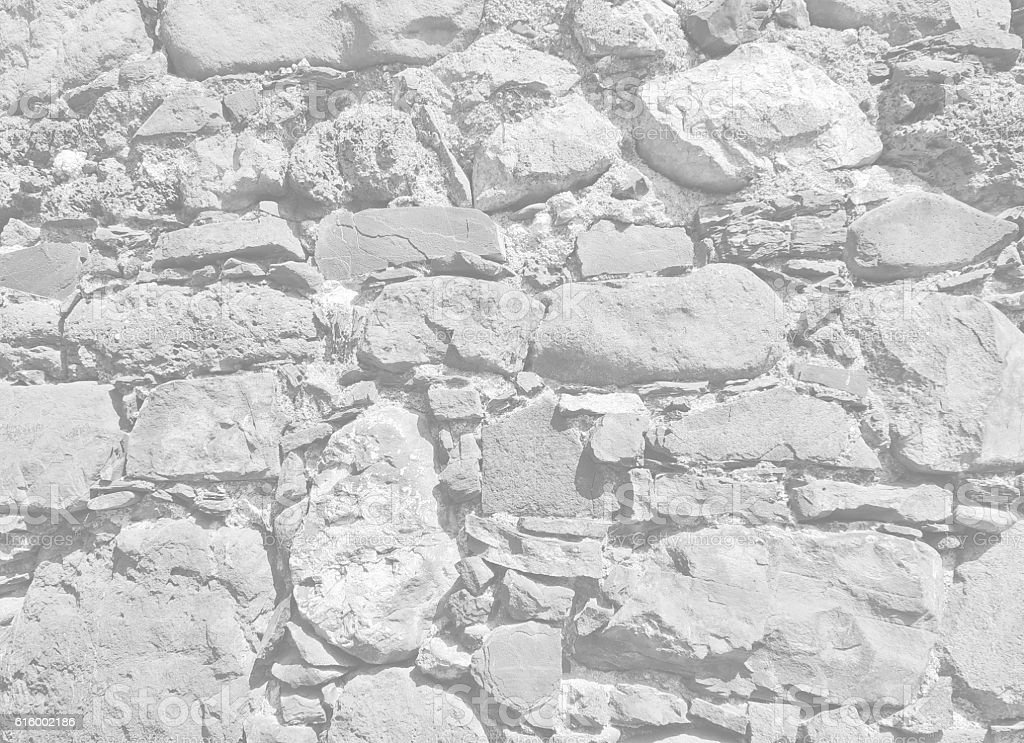 Ancient stone white wall background stock photo