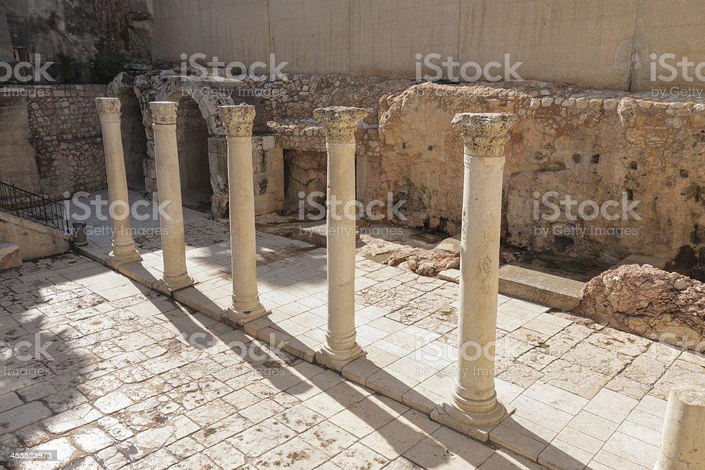 Ancient street in Jerusalem, Cardo royalty-free stock photo