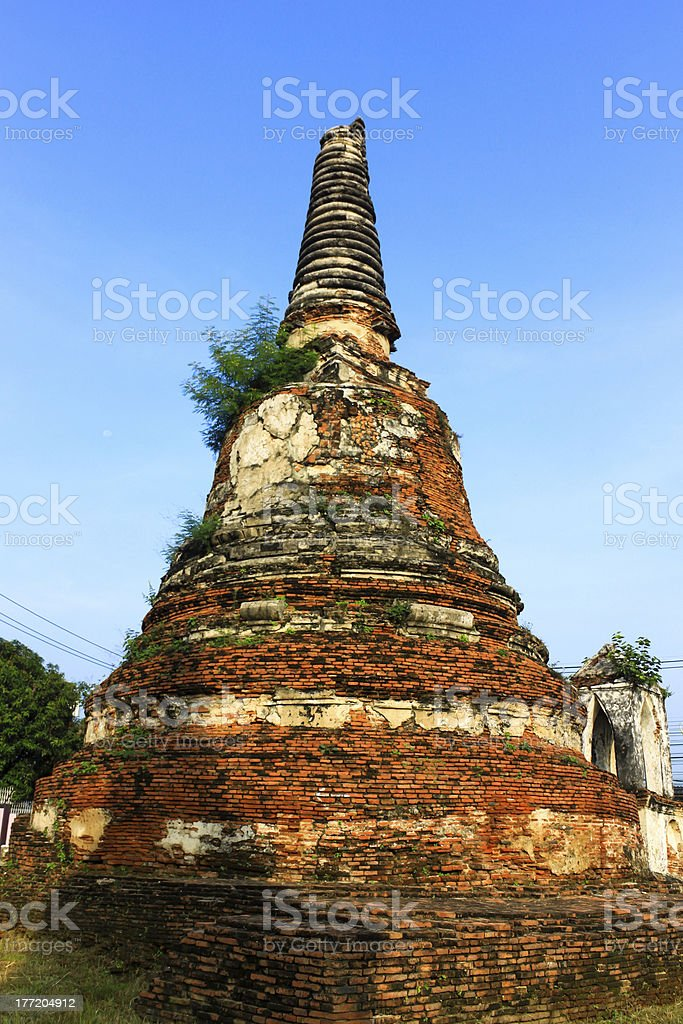 Ancient Stupa in Ayutthaya,Thailand royalty-free stock photo