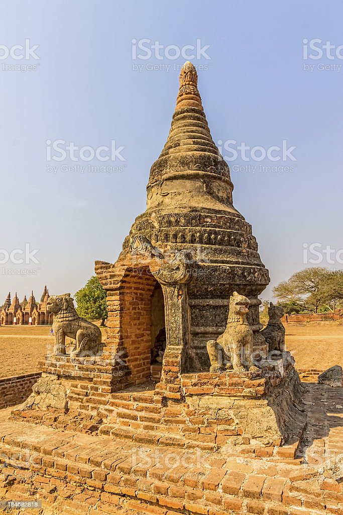 Ancient stupa in Old Bagan royalty-free stock photo
