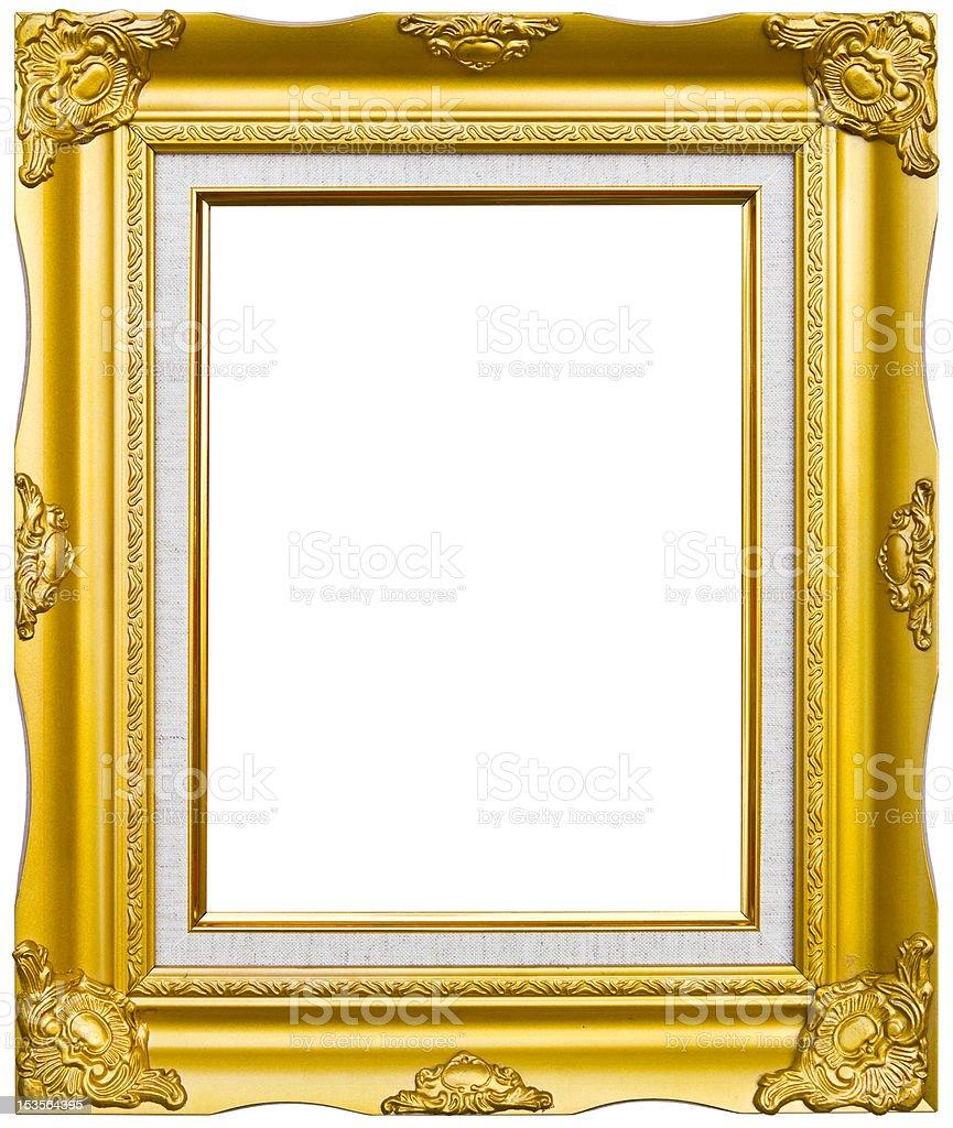 Antica cornice dorata stile foto immagine foto stock royalty-free