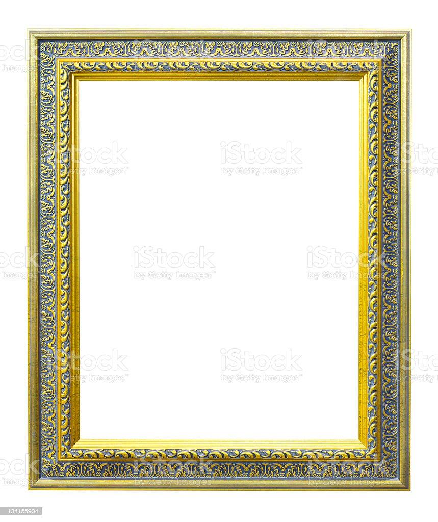 Legno stile antico oro cornice isolata immagine fotografica foto stock royalty-free